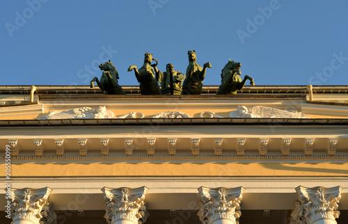 In de dag Theater Alexandrinsky Theatre, Saint Petersburg.