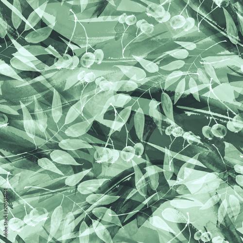 akwarela-wzor-z-wizerunkiem-grono-jagod-jarzebina-kalina-lisci-w-stylu-dekoracyjnym-bialy-zielony-kolor-do-roznych-projektow