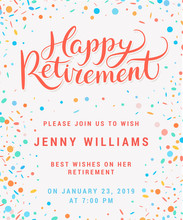 Happy Retirement. Party Invita...