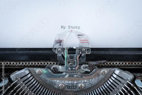 My Story on Typewriter Wallpaper Mural