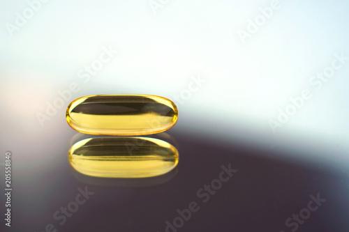 Fotografie, Obraz  Fish oil capsule, omega 3