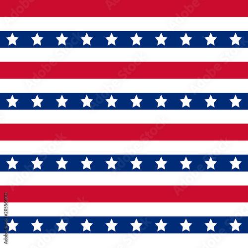 Fotografia  American stars and stripes seamless pattern