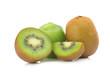 kiwi fruit half sliced isolated on white background