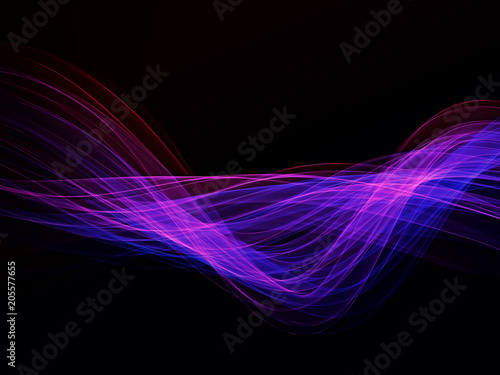 Abstract background, futuristic wavy