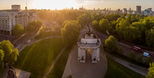 Aerial View Of Wellington Arch...