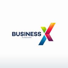 Modern X Initial Logo, Travel Logo Template Vector Illustration