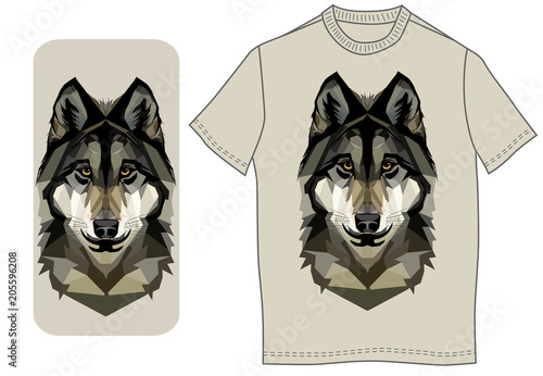 Foto op Canvas Art Studio Wolf head on a smart phone case