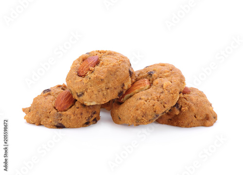 Tuinposter Koekjes Almond Cookies isolated on white background