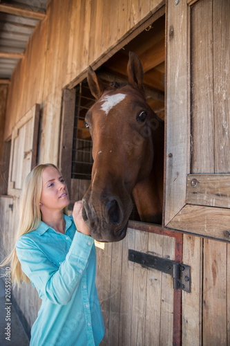 Relationship Between Young Woman and Horse Poster