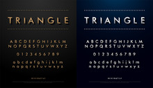 Alphabet Font From Triangle Co...