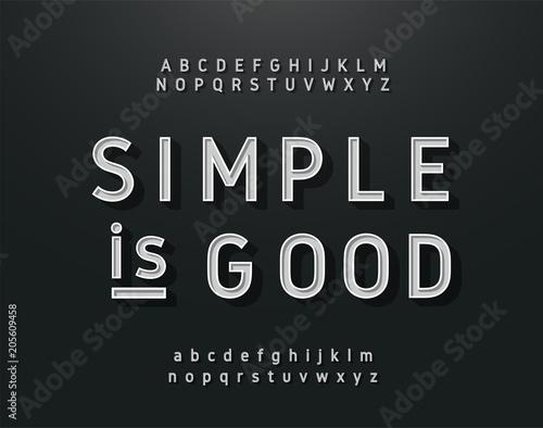 Photo  Vintage sans serif alphabet. Retro typography font classic style