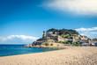 Medieval fortress of Tosa de Mar in Costa brava, mediterranean coast in Spain.