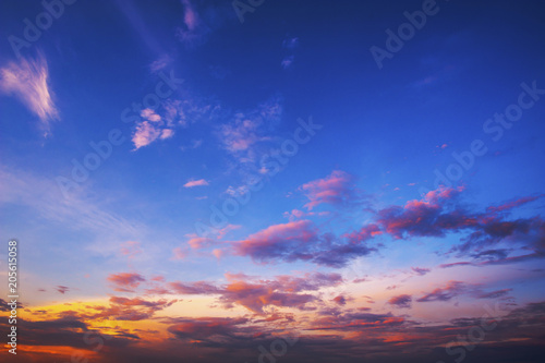 Obraz beautiful sky twilight after sunset - fototapety do salonu