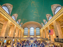 Interior Of Grand Central Station OnJulyl 14, 2017 In New York C