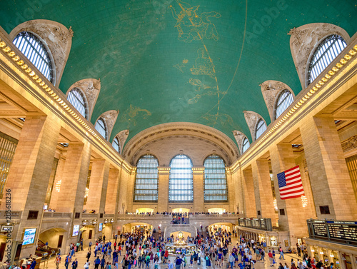 Fotografie, Tablou  Interior of Grand Central Station onJulyl 14, 2017 in New York C