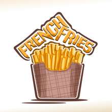 Vector Logo For French Fries, ...