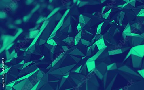 3d Abstract Hexagonal Polygonal Low Poly Triangular High