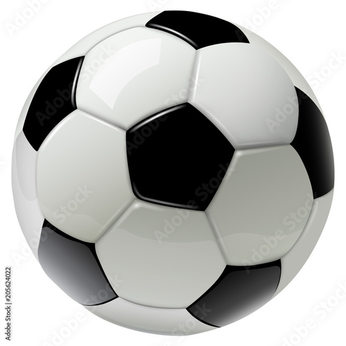 In de dag Bol soccer ball isolated on white