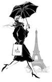 Kobieta z torbą na zakupy - 205628469
