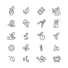 Plants Related Icons: Thin Vec...