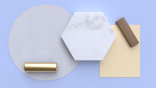 Flay Lay Paper Background Blue...