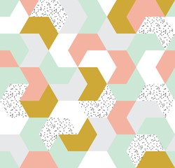 Cute colorful arrow seamless pattern. Endless background of geometric shapes. Vector illustration.