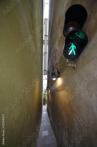 Cadres-photo bureau Ruelle etroite Sehr enger Gasse in Prag