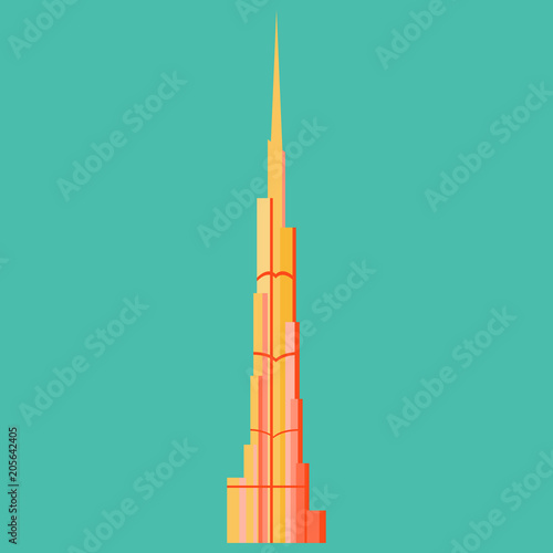 Burj Khalifa tower icon Wallpaper Mural