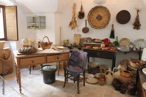 Fotografie, Obraz  interno cucina trullo puglia