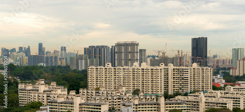 Staande foto Aziatische Plekken Singapore Apartment Homes Construction