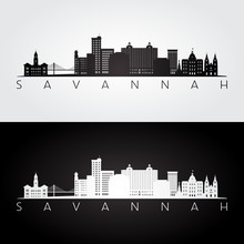 Savannah USA Skyline And Landm...