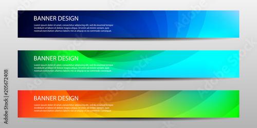 Fototapeta banner with beautiful geometric background .Vector illustrations obraz