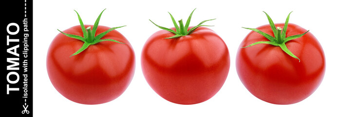 One tomato isolated isolated on white background