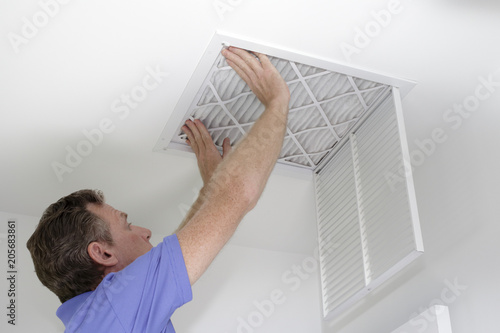 New Air Filter in Ceiling