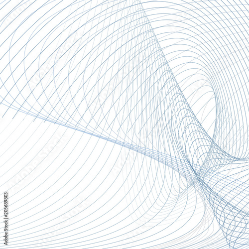 Scientific Background Abstract Waves Line Art Futuristic