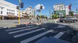 Wellington city, new zealand. Courtney place intersection traffic time lapse.