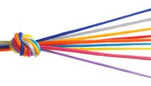 Colorful Ropes Tied Together O...