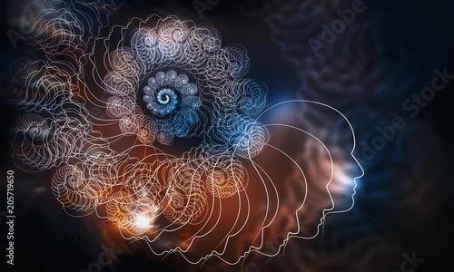 Crédence de cuisine en verre imprimé Spirale Computer generated background