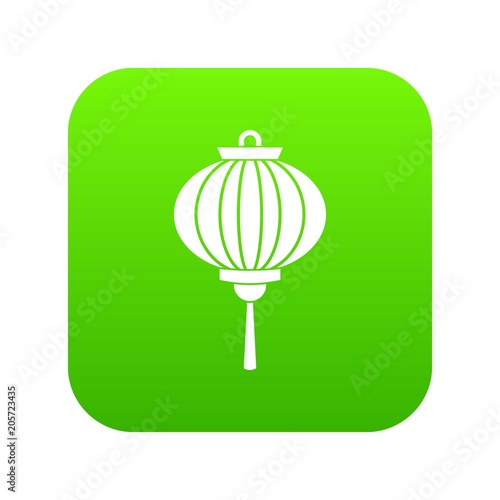 Photo  Chinese lantern icon digital green for any design isolated on white vector illus