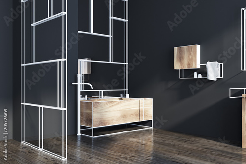 Futuristic Bathroom Corner Mirrors Glass Sink Buy This Stock