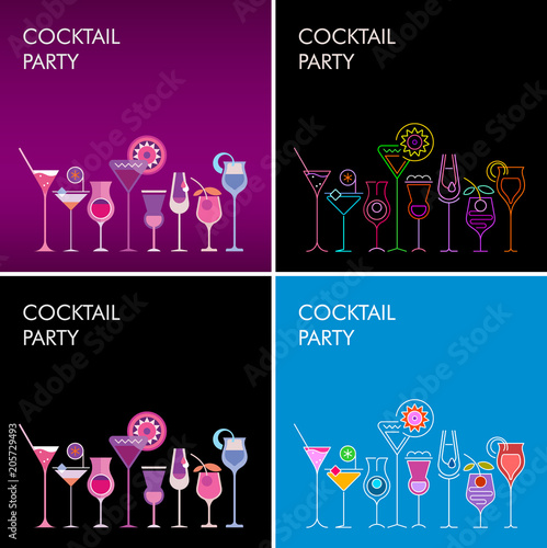 Canvas Prints Abstract Art Cocktail Party vector backgrounds
