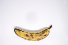 A Yellow Freckled Ripe Banana ...