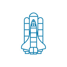 American Shuttle Line Icon, Ve...
