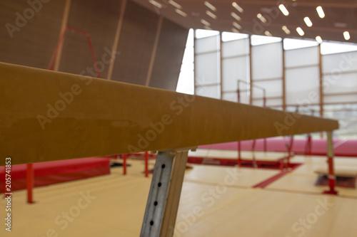 Gymnastique Gymnastic equipment in a gymnastic center in the Faroe Islands