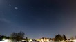 winter clear skies panoramic video over skies with stars and moon timelapse 4 hours village countryside