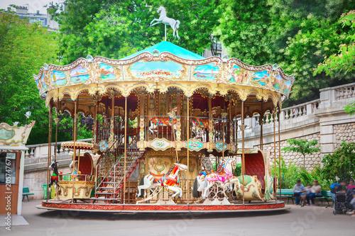 Fotografie, Tablou  Merry-go-round in Paris