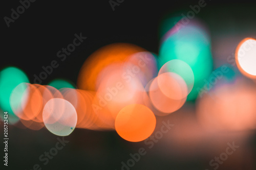 Fotografie, Obraz  Lichter bei Nacht, Bokehs