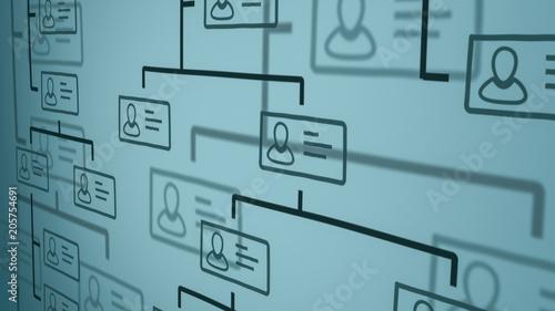 Fotomural organization chart concept