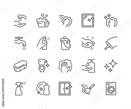 Fotografía  Line Cleaning Icons