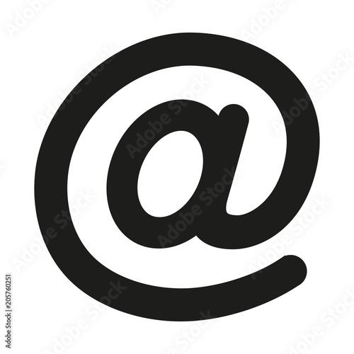 Photo at sign symbol on white background